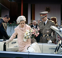 0141317 © Granger - Historical Picture ArchiveFABIOLA AND BAUDOUIN OF BELGIQUE.   Queen Fabiola of Belgium and king Baudouin 1st c. 1962. Full credit: AGIP - Rue des Archives / Granger, NYC -- All rights reserved.