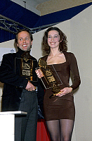 0141325 © Granger - Historical Picture ArchiveFABRICE LUCHINI AND ANNE BROCHET.   actors Fabrice Luchini and Anne Brochet received movie prize february 08, 1991. Full credit: AGIP - Rue des Archives / Granger, NYC -- All right