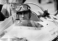 0141436 © Granger - Historical Picture ArchiveFANGIO.   racing driver Fangio here at the wheel during race in Monza june 28, 1958. Full credit: AGIP - Rue des Archives / Granger, NYC -- All rights reserved.