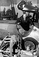 0141440 © Granger - Historical Picture ArchiveFANGIO.   racing driver Fangio here Chevrolet racing car in Buenos Aires january 5, 1965. Full credit: AGIP - Rue des Archives / Granger, NYC -- All rights reserved.