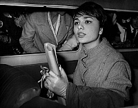 0141461 © Granger - Historical Picture ArchiveFARAH DIBA A PARIS.   Farah Diba, fiancee of -shah of Iran MohamedReza Pahlavi, arriving in Paris on october 23, 1959. Full credit: AGIP - Rue des Archives / Granger, NYC -- All ri.