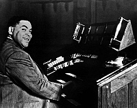 0141502 © Granger - Historical Picture ArchiveFATS WALLER.   Thomas Fats Waller (1904-1943) american jazz pianist, composer, here at HMV Studio in London in 1938. Full credit: AGIP - Rue des Archives / Granger, NYC -- All righ