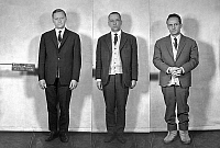 0141507 © Granger - Historical Picture ArchiveCOUNTERFEITERS.   These 3 mens have made 700000 francs with false bills : l-r : Alexis Houvaloff, Antoine Dowgierd and Ceslaw Bojarski on january 21, 1964. Full credit: AGIP - Rue des Archives / Granger, NYC -- All rights reserved.