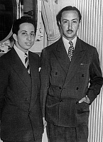 0141525 © Granger - Historical Picture ArchiveFAYCAL II.   king of Iraq Faysal II with regent prince Abdul Ilah aboard Queen Mary leaving Southampton (where Faysal studied) for trip to United States august 1952. Full credit: AGIP - Rue des Archives / Granger, NYC -- All rights reserved