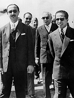 0141527 © Granger - Historical Picture ArchiveFAYCAL II.   l-r Prince Abdul Illah , prime minister Nuri Said and king Faysal II of Iraq : all of them were killed during the pro-nasserian putsch in Bagdad 14 july 1958. Full credit: AGIP - Rue des Archives / Granger, NYC -- All rights re