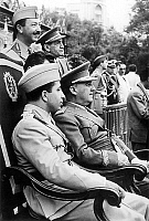 0141529 © Granger - Historical Picture ArchiveFAYCAL II.   king Faysal II of Iraq with general Francisco Franco at military parade in Madrid to celebrate the Victory may 22, 1956. Full credit: AGIP - Rue des Archives / Granger, NYC -- All Rights Reserved.