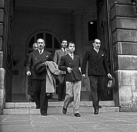 0141530 © Granger - Historical Picture ArchiveFAYCAL II D'IRAK.   young king Faycal II of Iraq (1935-1958, king in 1939-1958) visiting Paris in 1949. Full credit: AGIP - Rue des Archives / Granger, NYC -- All rights reserved.
