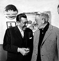 0141689 © Granger - Historical Picture ArchiveFERNANDEL AND GABIN.   french actors Fernandel and Jean Gabin on set of film That Tender Age october 07, 1964. Full credit: AGIP - Rue des Archives / Granger, NYC -- All rights res