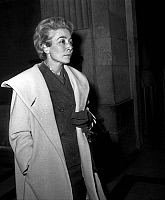 0141954 © Granger - Historical Picture ArchiveFRANCINE CAMUS AU PROCES JOUHAUD.   Trial of french general Edmond Jouhaud in Paris on april 13, 1962 : Francine Camus. Full credit: AGIP - Rue des Archives / Granger, NYC -- All Rights Reserved.