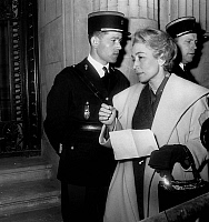 0141955 © Granger - Historical Picture ArchiveFRANCINE CAMUS AU PROCES JOUHAUD.   Trial of french general Edmond Jouhaud in Paris on april 13, 1962 : Francine Camus. Full credit: AGIP - Rue des Archives / Granger, NYC -- All Rights Reserved.