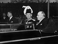 0142501 © Granger - Historical Picture ArchiveFREDERIC IX DU DANEMARK AND VINCENT AURIOL.   Travel in France on danish sovereigns : here king Frederic IX of Denmark and Vincent Auriol in Paris november 28, 1950. Full credit: AGIP - Rue des Archives / Granger, NYC -- All rights reserved