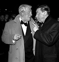 0142579 © Granger - Historical Picture ArchiveGABIN AND FERNANDEL.   Jean Gabin and Fernandel at premiere of film That Tender Age in Paris, 1964. Full credit: AGIP - Rue des Archives / Granger, NYC -- All rights reserved.