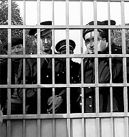 0142649 © Granger - Historical Picture ArchiveGARDIENS OF PRISON OF FRESNES.   Strike of the warders of the Fresnes prison near Paris october 1955. Full credit: AGIP - Rue des Archives / Granger, NYC -- All rights reserved.