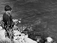 0142836 © Granger - Historical Picture ArchiveFRANCISCO FRANCO (1892-1975).  Spanish military leader and dictator.   Photographed fishing in Spain, 25 May 1973. Full credit: AGIP - Rue des Archives / Granger, NYC -- All rights