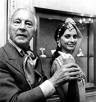 0142918 © Granger - Historical Picture ArchiveGEORGE BALANCHINE AND SUZANNE FARRELL.   George Balanchine and dancer Suzanne Farrell wearing Van Cleef and Arpels jewelry for Balanchine's ballet Jewels september 24, 1976 in Paris. Full credit: AGIP - Rue des Archives / Granger, NYC -- All Rights Reserved.