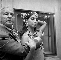 0142924 © Granger - Historical Picture ArchiveGEORGE BALANCHINE AND SUZANNE FARRELL.   George Balanchine and dancer Suzanne Farrell wearing Van Cleef and Arpels jewelry for Balanchine's ballet Jewels september 24, 1976 in Paris. Full credit: AGIP - Rue des Archives / Granger, NYC -- All Rights Reserved.