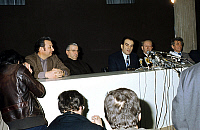 0143104 © Granger - Historical Picture ArchiveGEORGES MARCHAIS.   General secretary of french communist party Georges Marchais with Paul Laurent Gaston Plissonier Etienne Fajon Roland Leroy february 10, 1975. Full credit: AGIP - Rue des Archives / Granger, NYC -- All rights reserved.