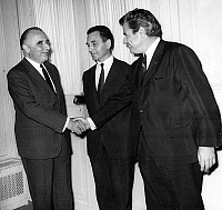0143300 © Granger - Historical Picture ArchiveGEORGES POMPIDOU, CANDIDAT.   Georges Pompidou, candidate to presidential election, receiving at his quarters Mr. Claudius Petit, Joseph Fontanet and Jacques Duhamel for new stage of electoral campaign june 03, 1969. Full credit: AGIP - Rue des Archives / Granger, NYC -- All rights reserved.