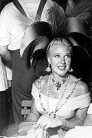 0143651 © Granger - Historical Picture ArchiveGINGER ROGERS.   Ginger Rogers at Fath's rio carnival party in Corbeville castle august 3, 1952. Full credit: AGIP - Rue des Archives / Granger, NYC -- All rights reserved.