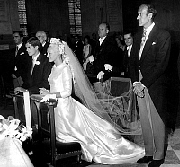 0143719 © Granger - Historical Picture ArchiveGISCARD D' ESTAING.   Wedding of Henri Giscard d' Estaing and Wilhelmine Sickinghe june 30, 1984 under the eye of Valery Giscard d' Estaing. Full credit: AGIP - Rue des Archives / Granger, NYC -- All rights reserved.