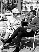 0143781 © Granger - Historical Picture ArchiveGLENN FORD AND SA FEMME.   Cannes film Festival : Glenn Ford and his wife Kathy Hayes, may 9, 1966. Full credit: AGIP - Rue des Archives / Granger, NYC -- All rights reserved.