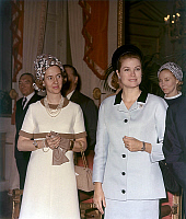 0143840 © Granger - Historical Picture ArchiveGRACE OF MONACO.   princess Grace of Monaco and queen Fabiola of Belgium here in Brussels palace march 23, 1969. Full credit: AGIP - Rue des Archives / Granger, NYC -- All rights r
