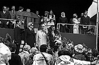 0143926 © Granger - Historical Picture ArchiveGRAND PRIX OF MONACO 1972.   Grand Prix de Monaco, may 15, 1972 : french race driver Jean-Pierre Beltoise is winner, in presence of princess Grace of Monaco, prince Rainier III, prince Albert (future prince Albert II), princess Stephanie and princess Caroline. Full credit: AGIP - Rue des Archives / Granger, NYC -- All rights reserved.