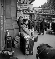 0144030 © Granger - Historical Picture ArchiveGREVE OF CHEMINS OF FER.   Railway strike in France june 07, 1947 : here outside a parisian station. Full credit: AGIP - Rue des Archives / Granger, NYC -- All rights reserved.
