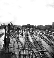 0144098 © Granger - Historical Picture ArchiveGREVES OF CHEMINS OF FER.   SNCF (French national railway company) on strike, june 1947 : here the empty tracks at the 'gare St Lazare (station) in Paris. Full credit: AGIP - Rue des Archives / Granger, NYC -- All rights reserved.