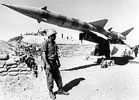 0144144 © Granger - Historical Picture ArchiveGUERRE DU KIPPOUR.   Sam III rocket near Suez occupied by israeli army october 31, 1973 during the Yom Kippur war. Full credit: AGIP - Rue des Archives / Granger, NYC -- All rights