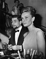 0144189 © Granger - Historical Picture ArchiveGUNTHER SACHS AND BIRGITTA LAAF.   Gunther Sachs and his fiancee Birgitta Laaf (swedish model) at a gala in Paris for disabled persons on april 25, 1963. Full credit: AGIP - Rue des Archives / Granger, NYC -- All rights reserved.