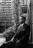 0144238 © Granger - Historical Picture ArchiveGUY BURGESS.   Guy Burgess (1910-1963), spy, double agent working in England for USSR, here in his flat in Moscow on april 19, 1962. Full credit: AGIP - Rue des Archives / Granger, NYC -- All Rights Reserved.