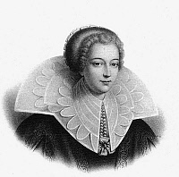 0144769 © Granger - Historical Picture ArchiveHENRIETTE D'ENTRAGUES.   Catherine Henriette de Balzac d'Entragues (1579-1633) favorite of french king Henri IV, engraving. Full credit: AGIP - Rue des Archives / Granger, NYC -- All Rights Reserved.
