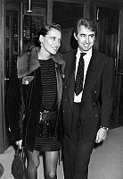 0145211 © Granger - Historical Picture ArchiveINES OF THE FRESSANGE.   model Ines de la Fressange with her husband september 26, 1990. Full credit: AGIP - Rue des Archives / Granger, NYC -- All rights reserved.