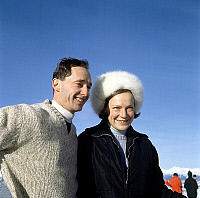 0145323 © Granger - Historical Picture ArchiveIRENE OF PAYS BAS AND HUGUES OF BOURBON PARME.   prince Carlos Hugo of Bourbon Parma and fiancee princess Irene of Holland (Beatrix-sister) january 31, 1968. Full credit: AGIP - Rue des Archives / Granger, NYC -- All rights reserved.