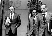 0145495 © Granger - Historical Picture ArchiveJACK RALITE JACQUES DELORS CHARLES FITERMAN.   Council of Ministers : Jack Ralite (minister of health) Jacques Delors (minister of Finance) et Charles Fiterman (minister transport) 08/25/1982 Neg:CX14817. Full credit: AGIP - Rue des Archives / Granger, NYC -- All rights reserved.