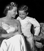 0145559 © Granger - Historical Picture ArchiveJACQUELINE AURIOL.   Jacqueline Auriol with her son Jean Paul at fencing contest november 16, 1948. Full credit: AGIP - Rue des Archives / Granger, NYC -- All rights reserved.