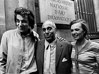 0146301 © Granger - Historical Picture ArchiveJACQUES WEBER.   french actors Jacques Weber (l) and Catherine Ferran (r) withtheir teacher Robert Manuel first prizes of the conservatoire of theatre july 1, 1971. Full credit: AGIP - Rue des Archives / Granger, NYC -- All rights reserved.