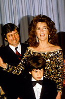 0146426 © Granger - Historical Picture ArchiveJANE FONDA.   Jane Fonda with husband Tom Hayden and their son at Academy Awards in 1982. Full credit: AGIP - Rue des Archives / Granger, NYC -- All rights reserved.