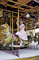 0146442 © Granger - Historical Picture ArchiveJANE MANSON.   Jane Manson at the funfair in Tuileries in 1987. Full credit: AGIP - Rue des Archives / Granger, NYC -- All Rights Reserved.
