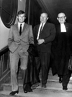 0146639 © Granger - Historical Picture ArchiveJEAN CLAUDE KILLY.   French skier Jean-Claude Killy with his lawyer Rene Floriot at court during trial when he lodged a complaint against magazine Stern may 18, 1967. Full credit: AGIP - Rue des Archives / Granger, NYC -- All rights reserve