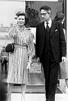0147070 © Granger - Historical Picture ArchiveJEAN MAURIAC AND SA FEMME.   Jean Mauriac and his wife leaving Elysee palace after lunch with president july 4, 1977. Full credit: AGIP - Rue des Archives / Granger, NYC -- All rig