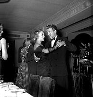 0147196 © Granger - Historical Picture ArchiveJEAN PIERRE AUMONT AND MME FATH.   Jean-Pierre Aumont dancing with Mrs JacquesFath (Genevieve Boucher de la Bruyere) in a cabaret in Paris on august 5, 1948. Full credit: AGIP - Rue des Archives / Granger, NYC -- All rights reserved.