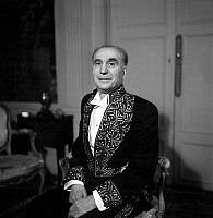 0147432 © Granger - Historical Picture ArchiveJEAN THARAUD.   Jean Tharaud (1877-1952) french writer, here with suit of member of Academie Francaise, december 12, 1946. Full credit: AGIP - Rue des Archives / Granger, NYC -- All Rights Reserved.