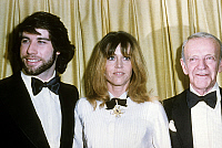 0147996 © Granger - Historical Picture ArchiveJOHN TRAVOLTA, JANE FONDA AND FRED ASTAIRE.   Actors John Travolta, Jane Fonda and Fred Astairea at Golden Globes february 1979. Full credit: AGIP - Rue des Archives / Granger, NYC -- All Rights Reserved.
