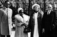 0148186 © Granger - Historical Picture ArchiveJOSEPH DESIRE MOBUTU AND GEORGES POMPIDOU.   General Joseph Desire Mobutu, president of Zaire and his wife with french president Georges Pompidou and his wife at the Elysee place (Paris) on march 29, 1971. Full credit: AGIP - Rue des Archives / Granger, NYC -- All rights reserved.