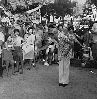 0148665 © Granger - Historical Picture ArchiveKIKI CARON.   Christine Kiki Caron at world woman championship of boules in Juan Les Pins (french riviera). We can also see Christine Beranger, Francine Breaud, Danielle Gros, july 9, 1969. Full credit: AGIP - Rue des Archives / Granger, NYC -- All Rights Reserved.