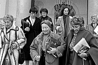 0149000 © Granger - Historical Picture ArchiveLA JOURNEE OF THE FEMME A L'ELYSEE.   The day of the woman at the Elysee palace in Paris on march 8, 1983 : Colette Audry, Simone de Beauvoir, Yvette Roudy, Madeleine Reberioux and Segolene Royal. Full credit: AGIP - Rue des Archives / Granger, NYC -- All Rights Reserved.