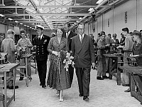 0149083 © Granger - Historical Picture ArchiveLA PRINCESSE BEATRIX AND THE PRINCE BERNHARD OF HOLLANDE.   Princess Beatrix of Netherlands (future queen) with her father prince Bernhard of Holland during a visit in the Flushing naval college on september 5, 1955. Full credit: AGIP - Rue des Archives / Granger, NYC -- All rights reserved.