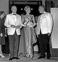 0149125 © Granger - Historical Picture ArchiveLA PRINCESSE GRACE AND RAINIER.   La Princesse Grace with husband prince Rainier III of Monaco(r) and his father prince Pierre (l) august 12, 1961 at sporting club evening in Monaco. Full credit: AGIP - Rue des Archives / Granger, NYC -- All Rights Reserved.